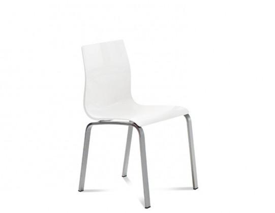 Kuchyně, jídelny ZLEVNĚNO Gel-R - Jídelní židle (hliník, bílá)