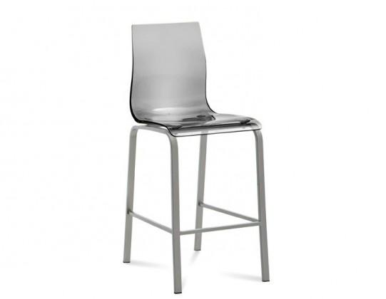 Kuchyně, jídelny ZLEVNĚNO Gel-R-Sgb - Barová židle (hliník, průhledná)