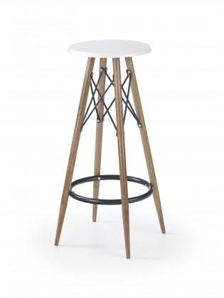 Kuchyně, jídelny ZLEVNĚNO H68 - Barová židle (bílá, hnědá)