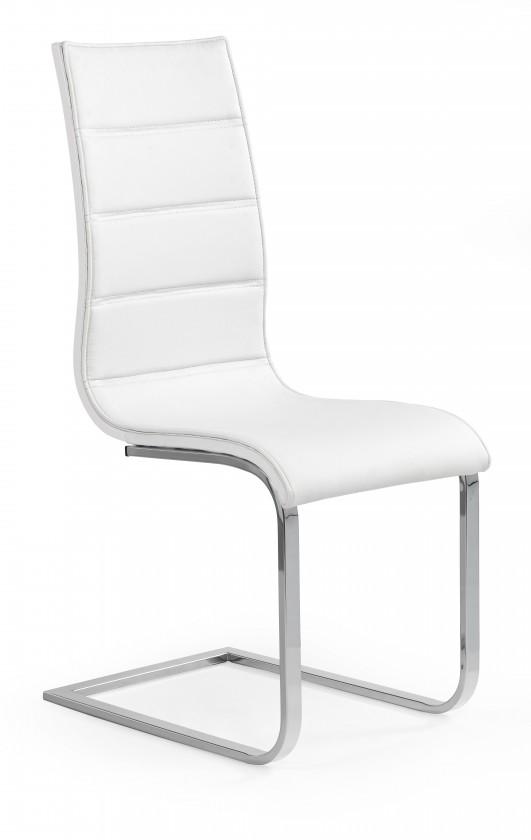 Kuchyně, jídelny ZLEVNĚNO K104 - Jídelní židle (bílá, stříbrná)