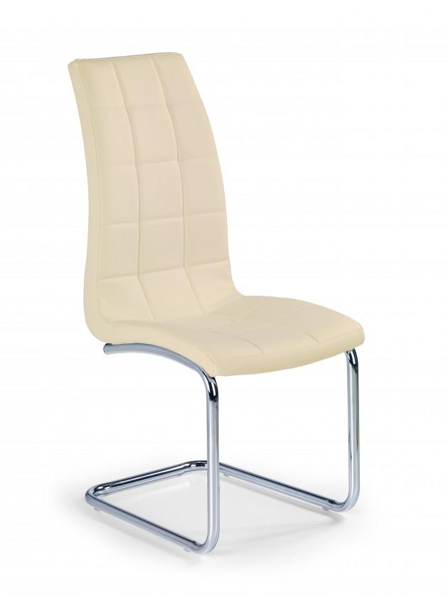 Kuchyně, jídelny ZLEVNĚNO K147 - Jídelní židle (béžová, stříbrná)
