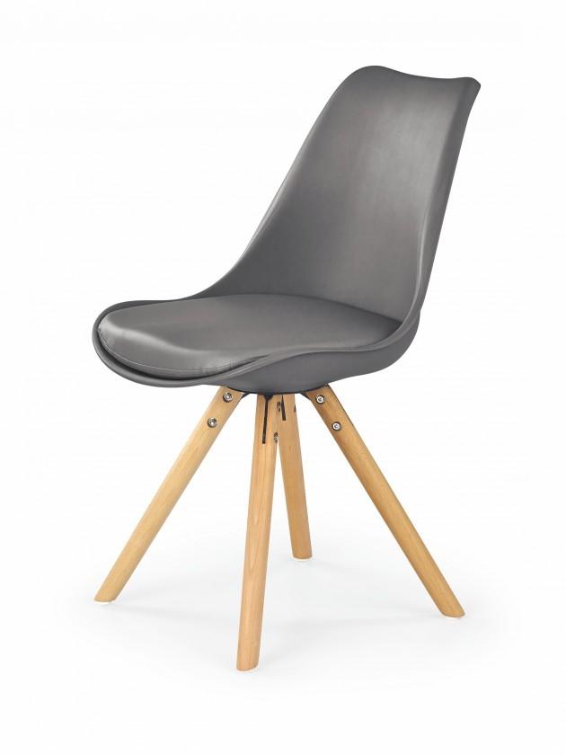 Kuchyně, jídelny ZLEVNĚNO K201 - Jídelní židle (šedá, buk)