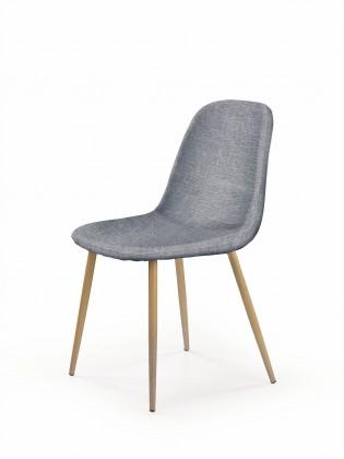 Kuchyně, jídelny ZLEVNĚNO K220 - Jídelní židle (šedá, dub medový)