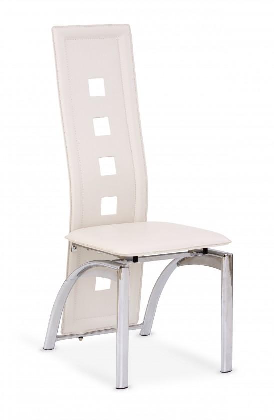 Kuchyně, jídelny ZLEVNĚNO K4 - Jídelní židle (krémová, stříbrná)
