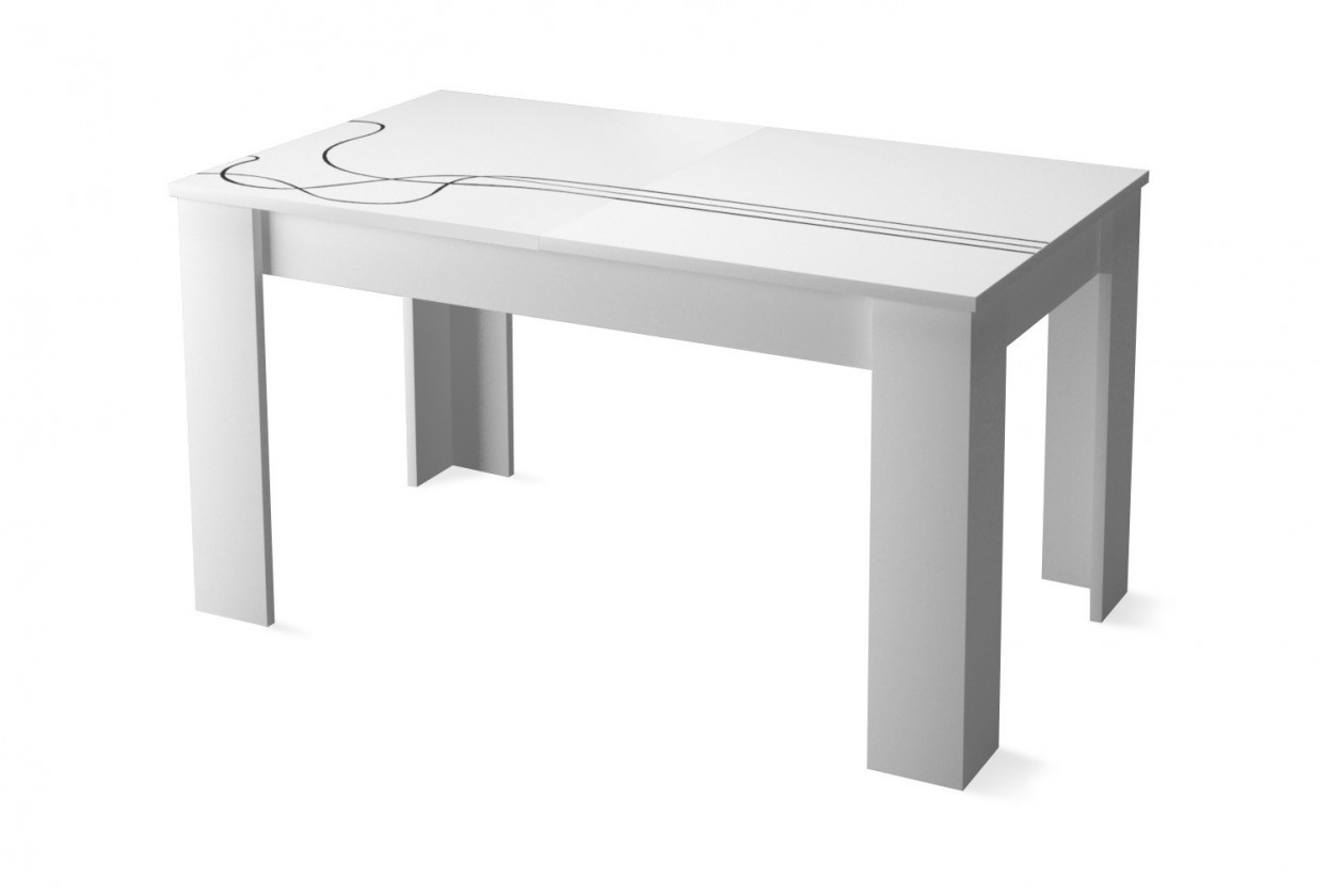 Kuchyně, jídelny ZLEVNĚNO Lino - Jídelní stůl (bílá)