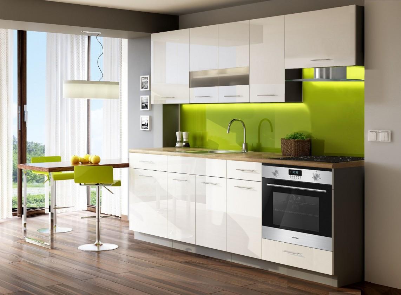 Kuchyně, jídelny ZLEVNĚNO Singiel luxe blanco 240(bílá)