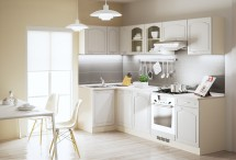 Kuchyně Julia - 270x110 cm (vanilka/magnolie/písek)