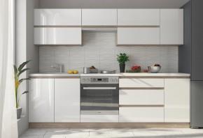 Kuchyně Line - 260 cm (bílá/dub sonoma)