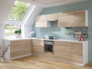 Kuchyně Line - 320x180 cm (dub sonoma/bílá)