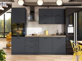 Kuchyně Lisa - 240 cm (šedá)