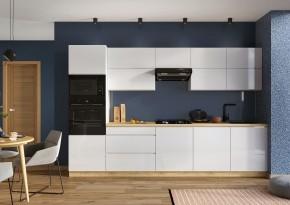 Kuchyně Lisse 320 cm (bílá lesk)