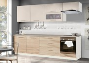 Kuchyně Madera - 260 cm (dub sonoma/písek/titan)