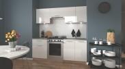 Kuchyně Marija - 200 cm (bílá/dub sonoma)