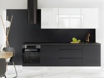 Kuchyně Marsala - 260 cm (bílá vysoký lesk/šedá vysoký lesk)