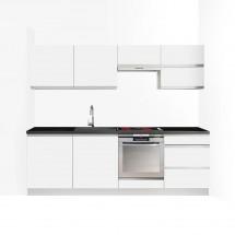 Kuchyně Maya - 240 cm (bílá vysoký lesk) - II. jakost