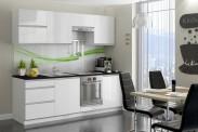 Kuchyně Maya - 240 cm (bílá vysoký lesk)