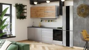 Kuchyně Metalica 260 cm (stříbrná, dub)