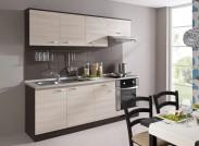 Kuchyně Nina - 210 cm (dub tmavý/jasan coimbra)