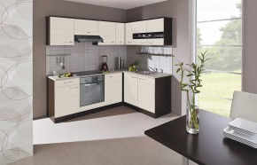 Kuchyně Nina - 220x160 cm (woodline creme/dub tmavý/písek)