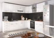 Kuchyně Rio - 270x170 cm (bílá lesk/dub sonoma)