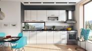 Kuchyně Roxy - 300 cm (bílá/černá)