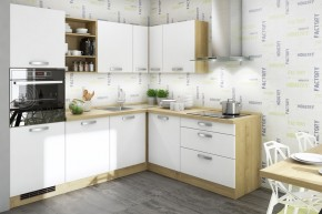 Kuchyně Sabrina - 240x200 cm (bílá/dub arlington)