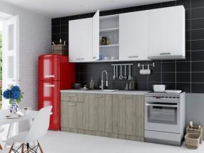Kuchyně Siena 240 cm (dub sonoma, bílá)