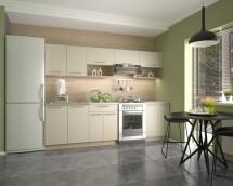Kuchyně Viola - 260 cm (vanilka/dub sonoma/bílá)