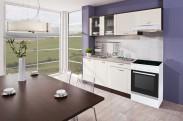 Kuchyňská linka Aneta 210A + 150cm PD (dub tmavý, vanilka, písek)