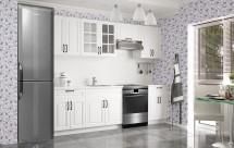 Kuchyňská linka Michelle - 200/260 cm (bílá/černá úchytka)
