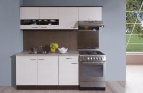 Kuchyňská linka Nina 210 A (dub tmavý/woodline creme)