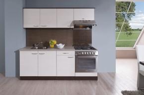 Kuchyňská linka Nina 210 D (dub tmavý/woodline creme)