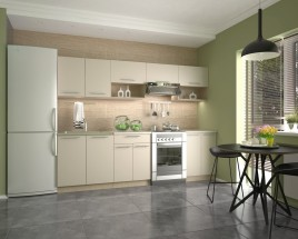 Kuchyňská linka Viola - 260 cm (vanilka/dub sonoma/béžová)