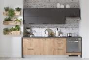 Kuchyňská linka Zaria - 240cm (grafit/dub arlington/antracit)
