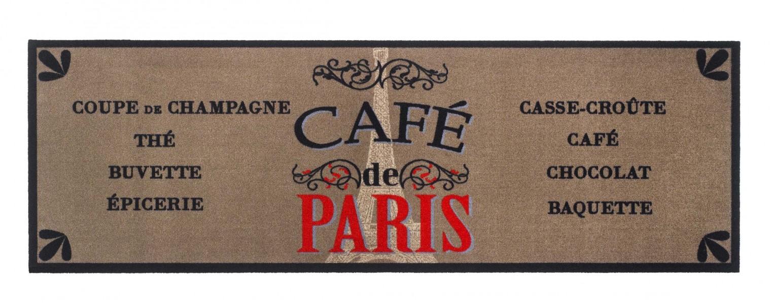 Kuchyňská předložka cafe de Paris (hnědá, černá, béžová)