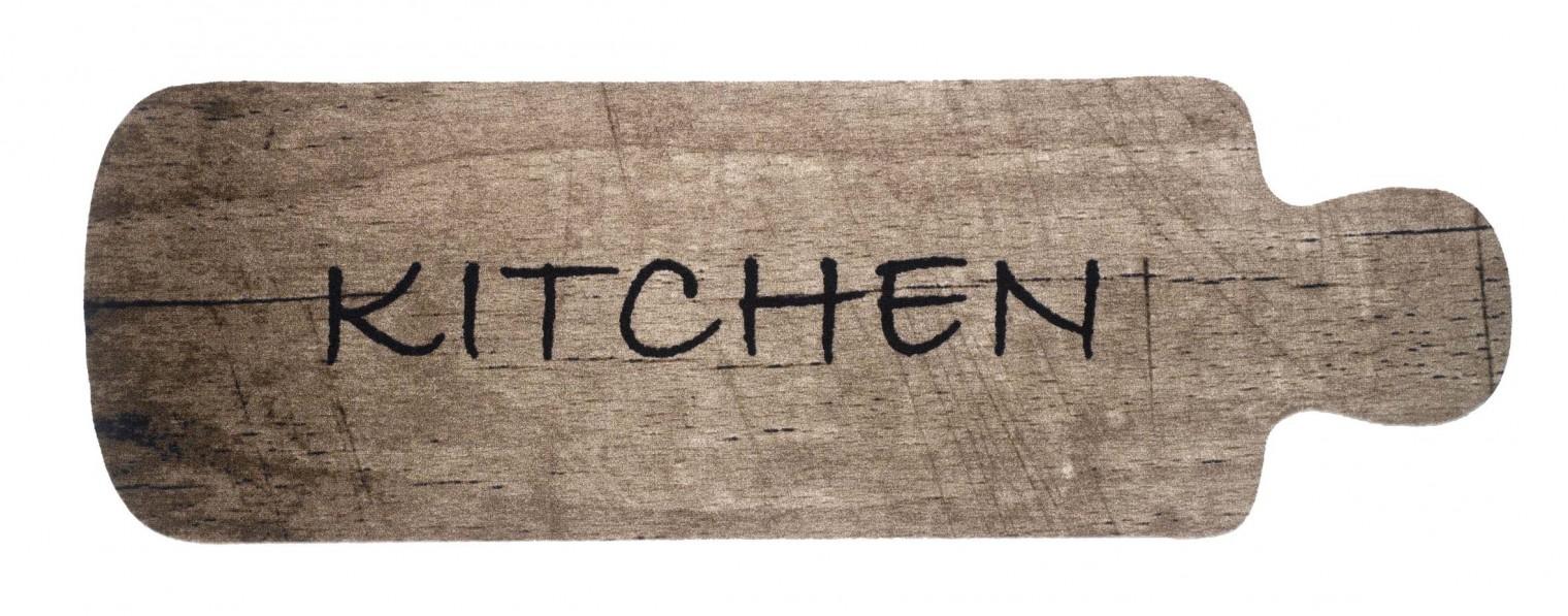 Kuchyňská předložka cutting board (černá, hnědá)