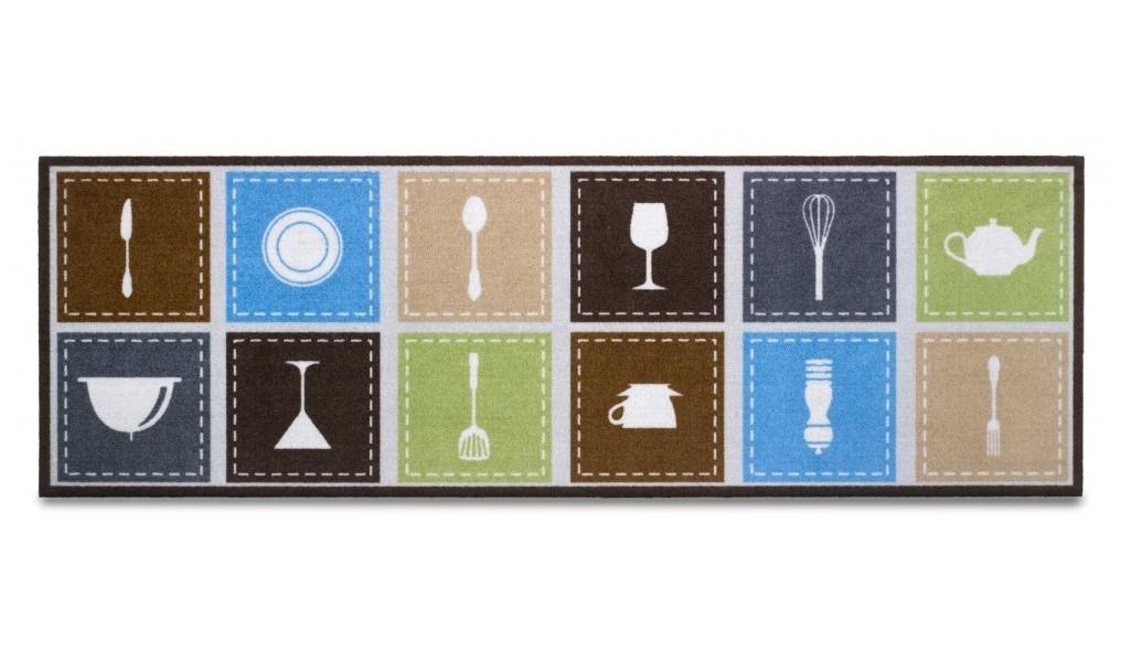 Kuchyňská předložka kitchen accessories (hnědá, šedá)
