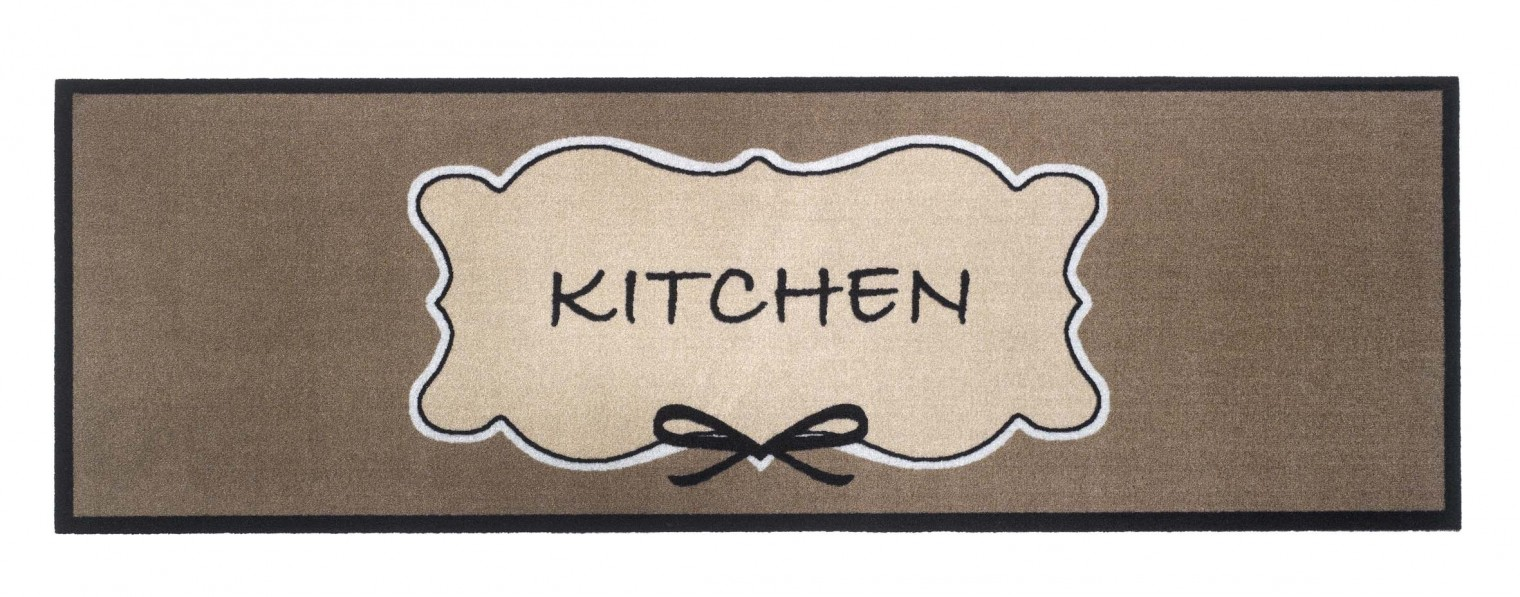 Kuchyňská předložka kitchen bow (hnědá, béžová)