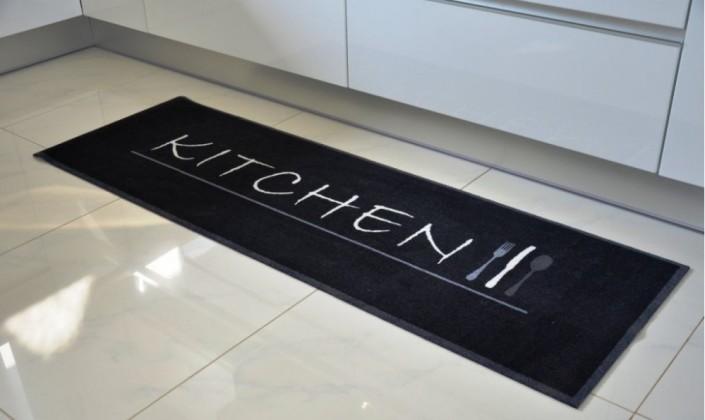 Kuchyňská předložka Kitchen (černá)