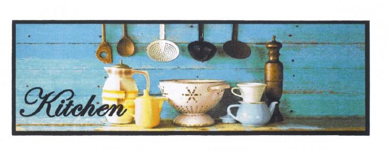 Kuchyňská předložka kitchendecoration (černá, bílá, modrá,žlutá)