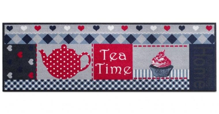Kuchyňská předložka teatime (šedá, červená)