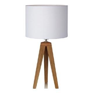 Kullen - Lampa stolní (dřevo/textil/bílá)