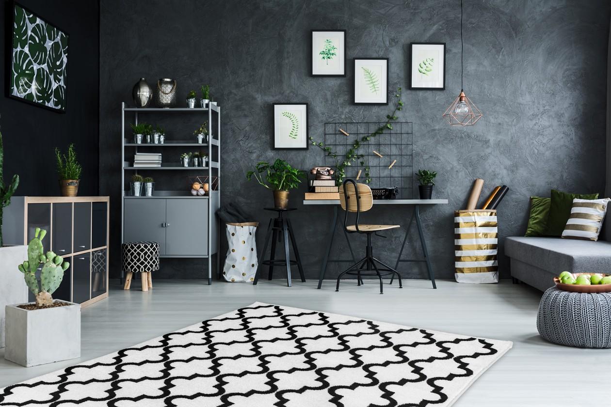 Kusové koberce Koberec Black & white (80x150 cm, bílá)