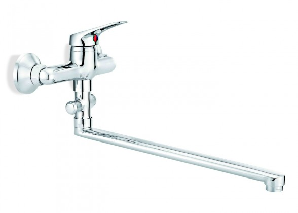 Labo - Umyvadlovo-vanová baterie s přepínačem sprchy (chrom)