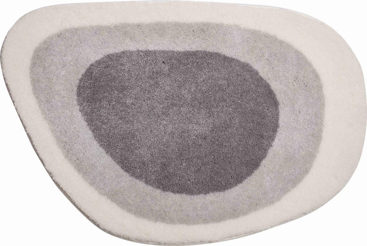 Lake - Koupelnová předložka 70x105 cm (sivo-stříbrná)