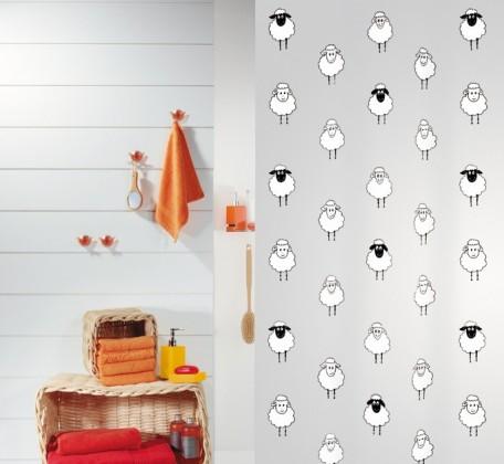 Lana-Sprchový závěs 180x200 cm(černá)
