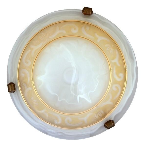 Laretta - Nástěnná svítidla, E27 (alabastrová/bronzová )