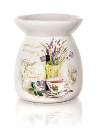 Lavender - Aroma lampa, 10,2 cm (bílá)