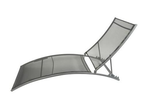 Lehátko polohovací, 158x54x96,5 cm (šedá)