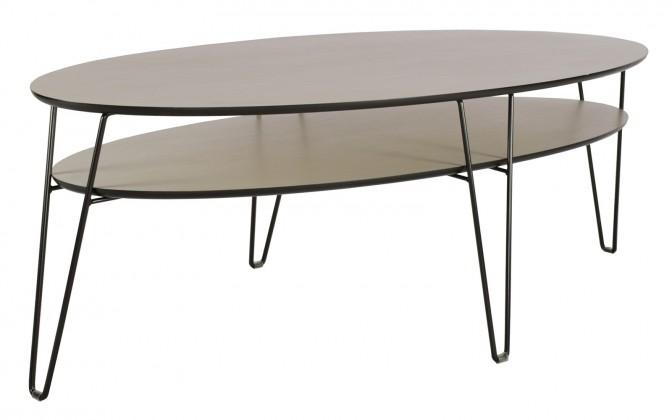 Leon - Konferenční stolek, oválný (dubová dýha)